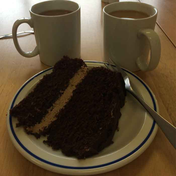 Tea and cake at Trawsfynydd Lake Centre