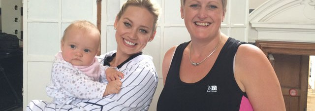 Kimberly Wyatt with Debbie Bird