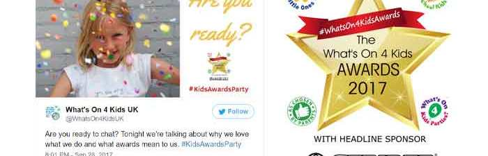 Whats On 4 Kids Awards 2017 - storify twitter party